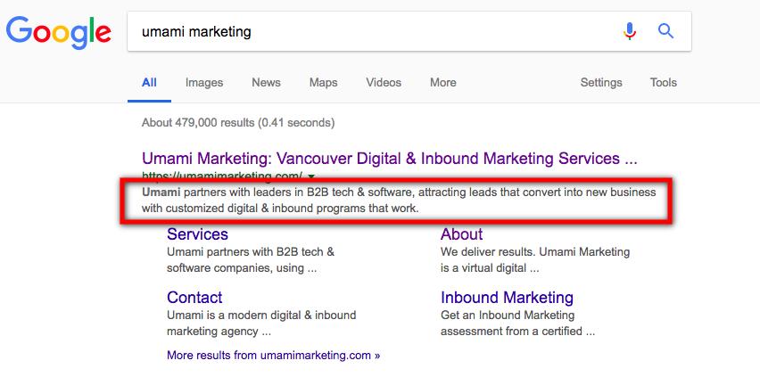 Google Snippet Length | Umami Marketing