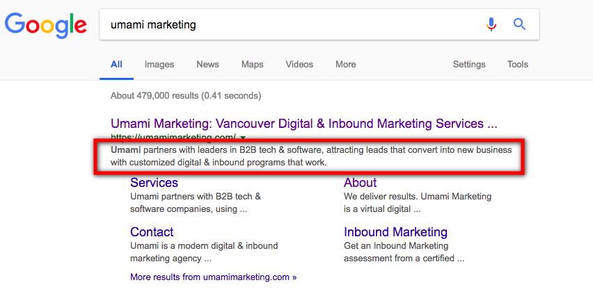 Google Snippet Length | Umami Marketing