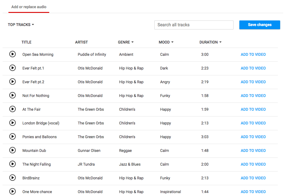 YouTube Audio Options   Umami Marketing