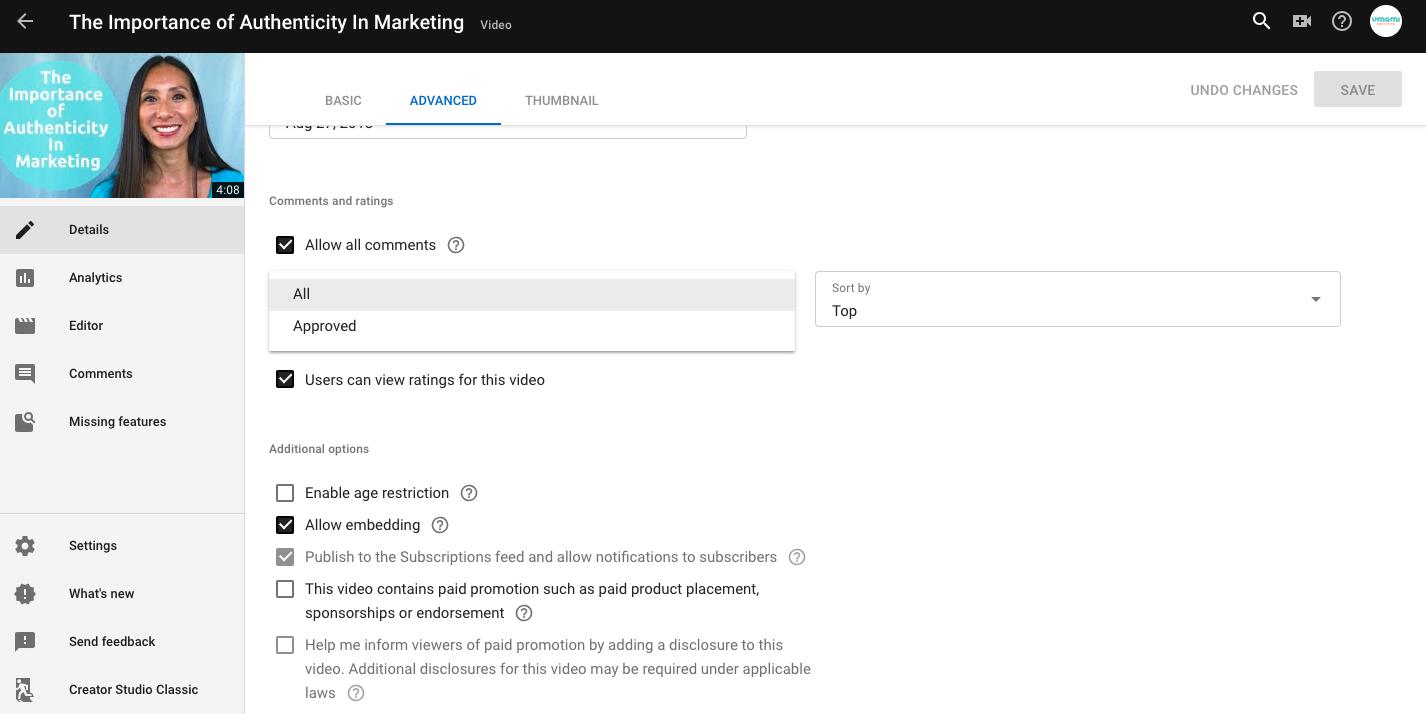 YouTube Optimization Advanced Settings   Umami Marketing